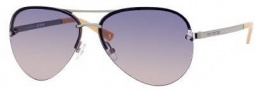 Juicy Couture Genre/s Sunglasses Sunglasses - 06LB Shiny Ruthenium (HG Smoke Pink Gradient Lens