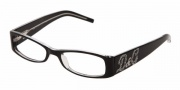 D&G DD 1148B Eyeglasses Eyeglasses - 675 Black Top On Clear