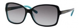 Kate Spade Ailey/S Sunglasses Sunglasses - 0DH4 Black Turquoise / Y7 Gray Gradient Lens