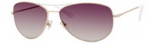 Kate Spade Ally 3/S Sunglasses Sunglasses - 0DX4 White Gold / Y6 Brown Gradient Lens
