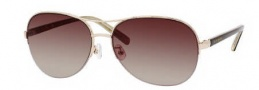 Kate Spade Brittany/S Sunglasses Sunglasses - 03YG Gold / Y6 Brown Gradient Lens