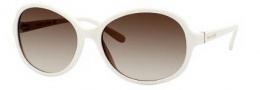 Kate Spade Caitlin/S Sunglasses Sunglasses - 0EG8 Ivory / Y6 Brown Gradient Lens