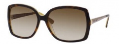 Kate Spade Darryl/S Sunglasses Sunglasses - 0EE2 Tortoise Saffron / Y6 Brown Gradient Lens