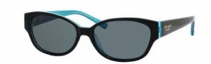 Kate Spade Halle/P/S Sunglasses Sunglasses - DH4P Black Aqua / RA Gray Polarized Lens