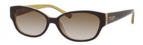 Kate Spade Halle/S Sunglasses Sunglasses - 0FW9 Aubergine Gold / Y6 Brown Gradient Lens