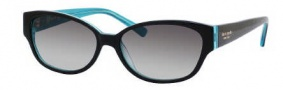 Kate Spade Halle/S Sunglasses Sunglasses - 0DH4 Black Aqua / Y7 Gray Gradient Lens