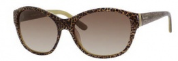 Kate Spade Lauralee/S Sunglasses Sunglasses - 01H0 Blonde Cheetah / Y6 Brown Gradient Lens