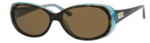 Kate Spade Sinclair/S Sunglasses Sunglasses - JEYP Tortoise Aqua / VW Brown Polarized Lens