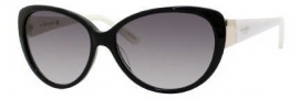Kate Spade Soliel/S Suglasses Sunglasses - 0FU8 Black Cream / Y7 Gray Gradient Lens