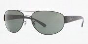 Ray-Ban RB3448 Sunglasses Sunglasses - 002/58 Black Crystal / Green Polarized