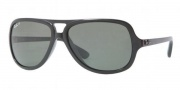 Ray-Ban RB4162 Sunglasses Sunglasses - 601/58 Black Crystal / Green Polarized