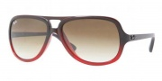 Ray-Ban RB4162 Sunglasses Sunglasses - 837/51 Dark Brown-Gradient Red / Crystal Brown Gradient