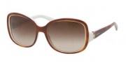 Prada PR 17NS Sunglasses Sunglasses - ACN6S1 Top Light Havana-Ivory / Brown Gradient