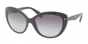 Prada PR 21NS Sunglasses Sunglasses - 1AB3M1 Gloss Black / Gray Gradient