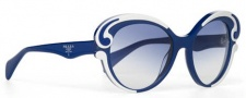 Prada PR 28NS Sunglasses Sunglasses - CAS8Z1 Top Ivory-Blue / Blue Gradient