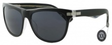 Black Flys Sunglasses Big Flybowski Sunglasses - Shiny Black / Clear