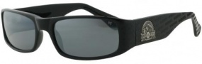 Black Flys Sunglasses Fly Grind Sunglasses - Shiny Black / Silver Flash Mirror