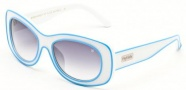 Black Flys Sunglasses Breakfast At Flys  Sunglasses - White / Blue Piping