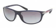 Prada Sport PS 05MS Sunglasses Sunglasses - 0AL3M1 Blue / Gray Gradient