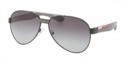 Prada Sport PS 55MS Sunglasses Sunglasses - 7AX3M1 Black / Gray Gradiet