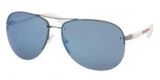 Prada Sport PS 56MS Sunglasses Sunglasses - 5AV9P1 Gunmetal / Blue Mirror
