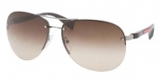 Prada Sport PS 56MS Sunglasses Sunglasses - 5AV3M1 Gunmetal / Gray Gradient