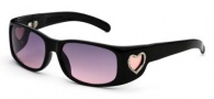 Black Flys Flylicious Heart Sunglasses Sunglasses - Black 