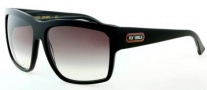 Black Flys Free Flying Sunglasses Sunglasses - Shiny Black / Black Horn