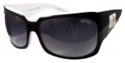 Black Flys Zipper Fly Sunglasses Sunglasses - Black / White