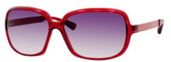 Marc by Marc Jacobs MMJ 140/S Sunglasses Sunglasses - OZ1S Red Silver (9C Dark Gray Gradient Lens)
