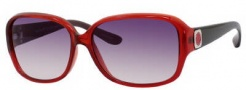 Marc by Marc Jacobs MMJ 142/S Sunglasses Sunglasses - OZ06 Red Gray (9C Dark Gray Gradient Lens)