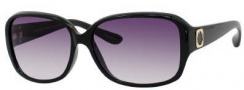 Marc by Marc Jacobs MMJ 142/S Sunglasses Sunglasses - OD28 Shiny Black (9C Dark Gray Gradient Lens)