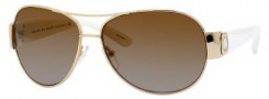 Marc by Marc Jacobs MMJ 149/P/S Sunglasses - 24SP Gold White (Rw Brown Shaded Polarized Lens)