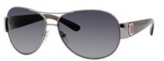 Marc by Marc Jacobs MMJ 149/P/S Sunglasses - ZKOP Palladium Black (RV Gray Shaded Polarized Lens)