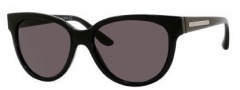 Marc by Marc Jacobs MMJ 155/S Sunglasses Sunglasses - 0D28 Shiny Black (E5 Smoke Lens)