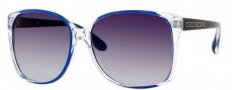 Marc by Marc Jacobs MMJ 157/S Sunglasses Sunglasses - OM7T Crystal Blue Black (JJ Gray Gradient Lens)