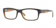 Versace VE3145 Eyeglasses Eyeglasses - 138 Black Transparent Orange