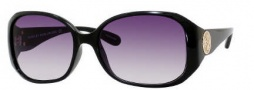 Marc by Marc Jacobs MMJ 166/S Sunglasses Sunglasses - 0D28 Shiny Black (9C Dark Gray Gradient Lens)