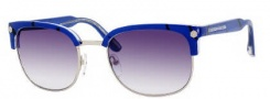 Marc by Marc Jacobs MMJ 171/S Sunglasses Sunglasses - 0QK1 Blue Black Dot (44 Dark Gray Gradient Lens)