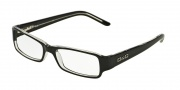 DG DD 1146 Eyeglasses Eyeglasses - 675 Black Top On Clear Demo Lens