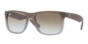Ray-Ban RB4165 Sunglasses - Justin Sunglasses - 854/7Z Rubber Brown on Grey / Green Gradient