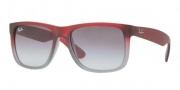 Ray-Ban RB4165 Sunglasses - Justin Sunglasses - 856/11 Rubber Red - Grey / Transparent Gray Gradient