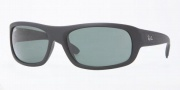 Ray-Ban RB4166 Sunglasses  Sunglasses - 622 Black Rubber / Crystal Green