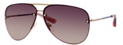 Marc by Marc Jacobs MMJ 204/S Sunglasses Sunglasses - 0AU2 Gold Red (DZ Mauve Lens)