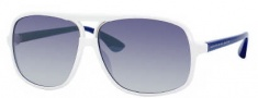 Marc by Marc Jacobs MMJ 212/S Sunglasses Sunglasses - 0YO6 White Blue (G5 Azure Mirror Flash Lens)