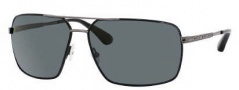 Marc by Marc Jacobs MMJ 214/P/S Sunglasses Sunglasses - OH9B Shiny Black Dark Ruthenium (RA Gray Polarized Lens)