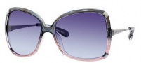 Marc by Marc Jacobs MMJ 217/S Sunglasses Sunglasses - OYQQ Azure Rose / Ruthenium (38 Gray Azure Lens)