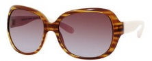 Marc by Marc Jacobs MMJ 240/S Sunglasses Sunglasses - OWEE Striped Light Havana / Ivy (DB Brown Gray Gradient Lens)