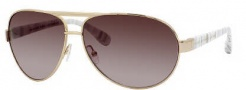 Marc by Marc Jacobs MMJ 245/S Sunglasses Sunglasses - 0WA0 Gold White Gray (CC Brown Gradient Lens)