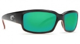 Costa Del Mar Caballito Sunglasses Black Coral Frame Sunglasses - Green Mirror / Costa 580G